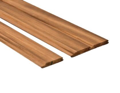 Csomómentes Thermowood nyárfa szauna lambéria 90mm széles