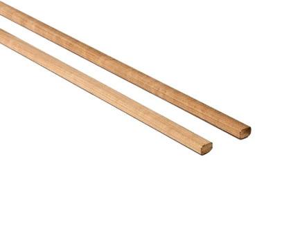 Csomómentes Thermowood nyárfa szegő léc 15x18mm