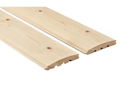 Faház építő burkolat – rönk profilú 23x146mm AB minőség