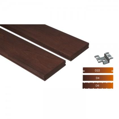 """Thermowood kőris teraszburkolat 20×112 """"A+"""" minőség"""