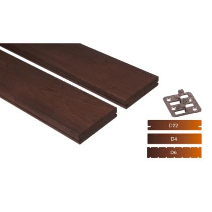 """Thermowood kőris teraszburkolat 26×115 """"A+"""" minőség"""