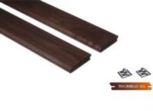 Thermowood kőris rombusz profilú falburkolat
