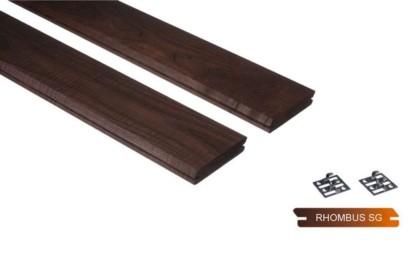 Thermowood kőris rombusz profilú falburkolat – térelválasztó 20x95mm