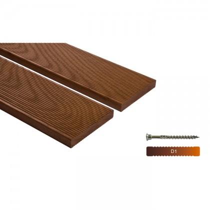 """Thermowood kőris teraszburkolat 20×132 """"A+"""" minőség"""