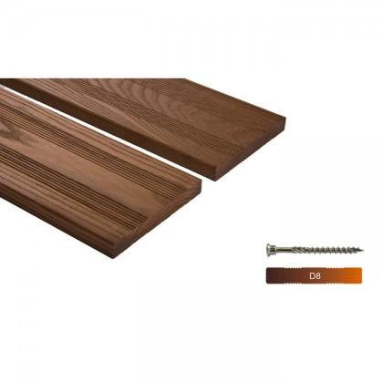 """Thermowood kőris teraszburkolat 20×150 """"A+"""" minőség"""